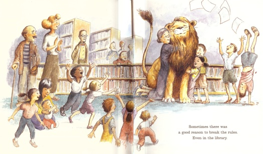 A Lion (and Two Little Girls) in Trouble With the Library Law | Going on a  Book Hunt