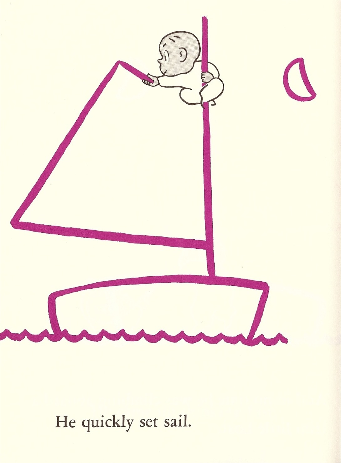 The illustrated book image collective harold and the for Harold and the purple crayon coloring pages